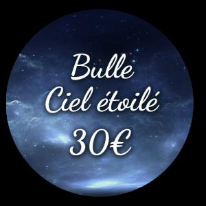 Option Bulle Ciel étoilé 30€ - Bulle d'un soir Alsace